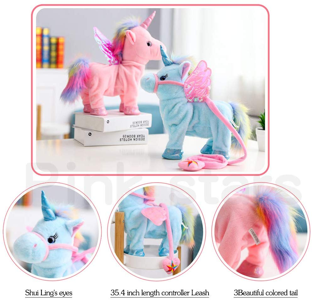 Unicorn Child Girl Baby Accompany Sleeping Animal Soft Toys Gift Image