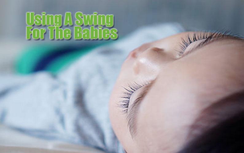 using baby swing