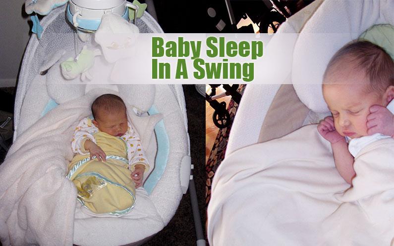 Baby Sleep In A Swing